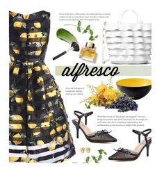 Easy Breezy: Alfresco Dining by beebeely-look on Polyvore featuring Michael Kors, Lipstick Queen, Burberry, Normann Copenhagen, striped, sammydress, floraldress, alfrescodining and brunchgoals
