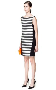 Image 2 of COMBINATION STRIPED DRESS from Zara