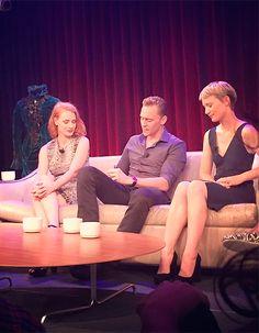The cast of Crimson Peak at GoogleTalks on September 16, 2015, in New York City. Source: https://instagram.com/p/7tYWe-xkPR/