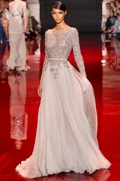 Floaty Elie Saab wedding dress.  Read more about it on Primp My Bride; http://primpmybride.blogspot.com/2014/03/wedding-dresses-for-non-traditional.html
