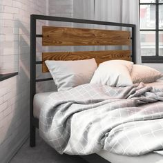 The strong, clean lines of the Fargo Headboard are inspired by factories from the industrial era-influenced by a modern touch. Your home embraces mixed raw materials. Concrete, matte metal, distressed wood. For sure your décor has a story to tell.
