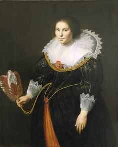 Paulus Moreelse, Portrait of a Lady, 1627. On view in the Mauritshuis museum, the Hague.