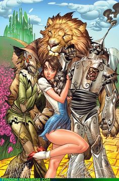 J. Scott Campbell's Wizard of Oz...Why does this Scarecrow look like the one in Batman?