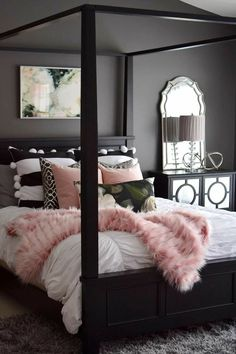Master bedroom decor hacks: A great tip to aid give you home design eye would be to watch Home and Garden on tv. There are a lot of television programs out there that will give you many great ideas and just how all of you the latest design trends. Dream Rooms, Dream Bedroom, Home Bedroom, Girls Bedroom, Bedroom Ideas, Bedroom Themes, Bedroom Designs, Bedroom Black, Warm Bedroom