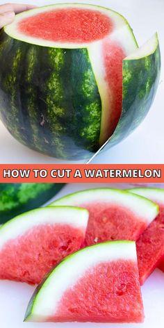 Healthy Summer Snacks, Healthy Picnic, Healthy Dinner Recipes, Watermelon Hacks, Cut Watermelon Easy, Watermelon Cutting, How To Store Watermelon, Watermelon Salad, Watermelon Slices
