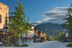 Whitefish, Montana. Close to Glacier National Park and surrounded by idyllic mountains.