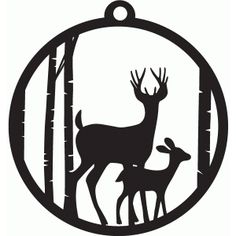 Silhouette Design Store: forest tag