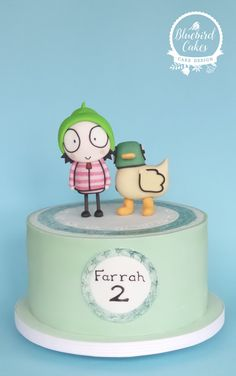 Sarah and Duck cake by Zoe Smith from Bluebird-cakes www.facebook.com/wintersgate