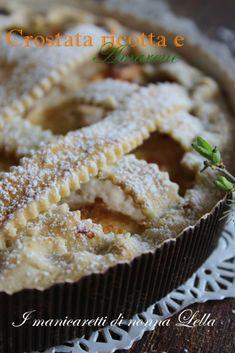 Italian Recipes Ricotta and sour cherry tart Italian Cake, Italian Desserts, Best Italian Recipes, Favorite Recipes, Cherry Tart, Sour Cherry, Torte Cake, Yummy Food, Tasty