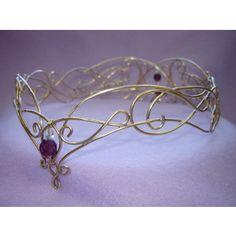 Purple and gold tiara