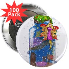 "2.25"" Button (100 Pack) www.teeliesfairygarden.com Wear and share a favorite design or saying with 100 of your closest friends. #fairybutton"