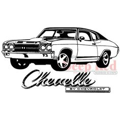 Deep Red Stamps Cling Stamp Chevelle, , hi-res Chevy Ss, Chevy Nova, Chevy Girl, 1970 Chevelle Ss, Chevrolet Chevelle, Chevy Stepside, Chevy Pickups, Car Tattoos, Cars Coloring Pages