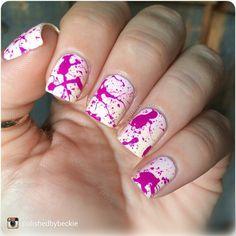 fun splatter nail art