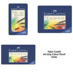 Faber-Castell Color Pencil Art Grip Aquarelle Tin of 12, 24, 36 Drawing #FaberCastell