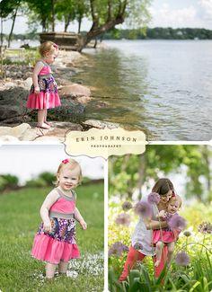 www.erinjohnsonphoto.com Little girl dress Hair flower