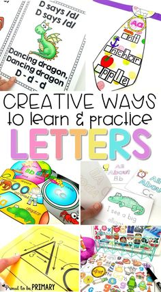 Preschool and kindergarten children will enjoy these fun, creative ways to learn and practice the alphabet. The literacy activities include letter songs, games, books, tracing, crafts, and FREE printable resources to build letter identification and phonetic skills.  via @proud2beprimary