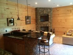 1000 images about basement walls on pinterest white for Tongue and groove fireplace