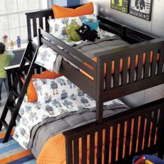 colby's new room is going to be a robot room AND it comes w/ a built-in bunk bed (planning to remove the ladder until he is at least 4 or 5).