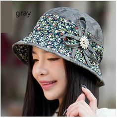 10a8036dc5a Fresh floral bucket hat for women UV protection hat flower decoration