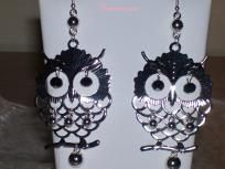 Silver Owl Earrings   FREE SHIPPING!  Instock and ready to ship to you