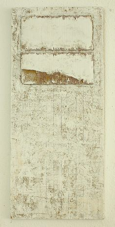 Christian Hetzel  composition in white - 2013  113 x 50 x 2,1 cm  mixed media, cardboard on timber board