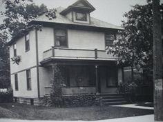 Photo postcard of 86 Diamond SE from 1905, residence of Mrs. S. E. McMartin and Mrs Al. Kochling
