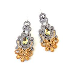 Soutache Necklace, Macrame Earrings, Diy Earrings, Boho Jewelry, Jewelery, Imitation Jewelry, Shibori, Beaded Embroidery, Belly Button Rings