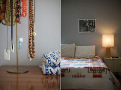 Emily Johnston Anderson (blog.emilyjohnstonanderson.com) :: Love the single photo over the bed.