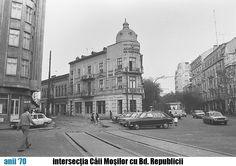 INTERSECŢIA CALEA MOŞILOR CU BD. REPUBLICII, BUCUREŞTI Bucharest Romania, Old City, Time Travel, Street View, Memories, Buildings, Traveling, Bucharest, Romania