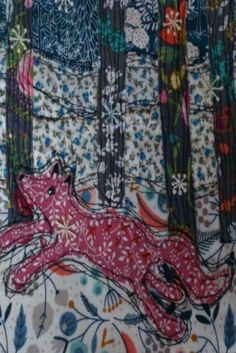 The Winter Fox - Original Textile Artwork - unframed - pinned by pin4etsy.com