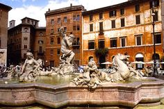 Rome Photos at Frommer's - The Fontana del Nettuno (Fountain of Neptune) in the Piazza Navona.