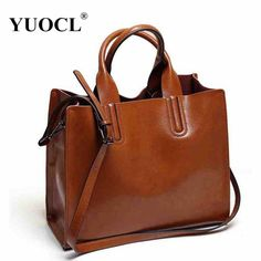 YUOCL shoulder tote bags for women leather luxury handbags women messenger bags  designer famous brands 2017 vintage sac a main - TakoFashion - Women s ... c2357961cc8bd
