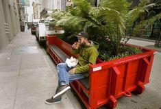 slowalk :: 샌프란시스코의 빨~간 쓰레기수거함 벤치!!!