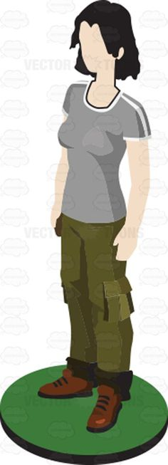 Woman In Cargo Pants Pawn Figurine #blackhair #boots #brown #cargopants #ceramic #display #female #femaleperson #figure #Figurine #glass #green #grey #grownup #grownup #individual #lady #mediumhair #metal #pants #plastic #professional #shirt #single #statuette #woman #wood #vector #clipart #stock