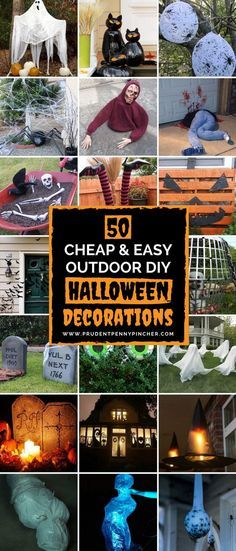 Cheap and easy outdoor DIY Halloween decorations