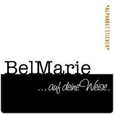 www.aufdeineweise.de · BELMARIE – SCRAPBOOKING ALPHABET STICKERS · Made in Germany · Format / Konzept: ORIGINAL.