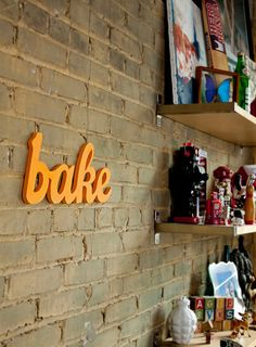 bake wood sign  handmade from recycled wood by WilliamDohman, $42.00