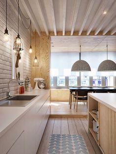O planejamento do projeto para um apartamento de 105 m²
