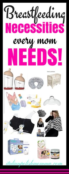 Here is a list of breastfeeding necessities for every breastfeeding mom out there. This is a list of breastfeeding must have items that I couldn't live without! These breastfeeding products should be on every mom's baby registry. If you plan to nurse your baby, these will help you so much!