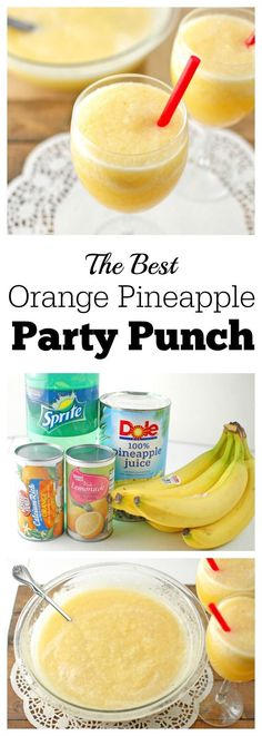 The Best Orange Pineapple Party Punch is perfect for many occasions throughout the year including holidays, family parties, summer events or wedding receptions.