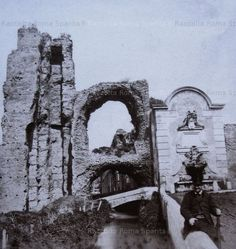 :Porta Furba, fosso dell'acqua Mariana con ponticello Anno 1865