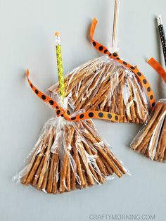 Pretzel Witch Broom Stick Treats - Mañana astuta
