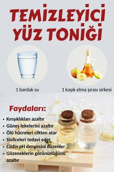 Thanks to this natural facial tonic that cleanses the skin deeply and at home . - Cildi derinlemesine temizleyen ve evde yapılan bu doğal yüz toniği sayesinde. Deep cleansing the skin and at home, this natural facial tonic will re. Skin Cleanse, Health Cleanse, Facial Toner, Facial Care, Natural Facial, Natural Skin Care, Coconut Health Benefits, Les Rides, Homemade Skin Care