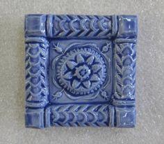 Ceramic Accent tile  ButterMold 2x2 accent by FarRidgeCeramics
