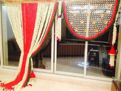 Decoration For Ganpati, Curtains, Ideas, Home Decor, Blinds, Interior Design, Draping, Home Interior Design, Window Scarf