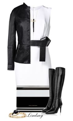 """""""Kaufmanfranco belted cut-out dress"""" by lindsayd78 ❤ liked on Polyvore featuring KaufmanFranco, DVF, Prada, Sydney Evan, Tiffany & Co., Pomellato and Armani Jeans"""