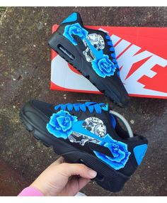 Nike Air Max 90 Candy Drip Womens Trainers In Blue Rose Skull Hype Shoes,  Nike 78dd1474ae