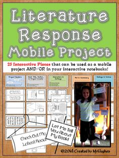 There are literature response projects, and then there are literature response projects like this!   Included in this kit is everything you need to get your students excited and engaged with their reading responses (both in a mobile AND/OR Interactive journal)! With informative components that are both 3D and 2D (flat), your are sure to have a show stopping and informational display that will make you the envy of the school! ($)