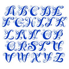 Elsie Swirl Cuttable Font