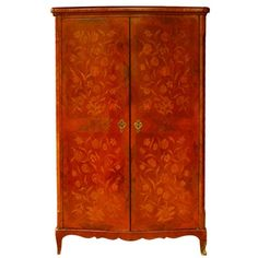 d8b161f26b36 Antique French Marquetry Kingwood Linen Press Marquetry, Cornice, French  Antiques, Home Furnishings,